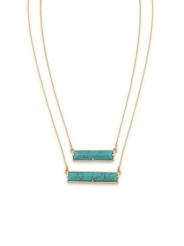 Ralph Lauren Rectangle Pendant Necklace